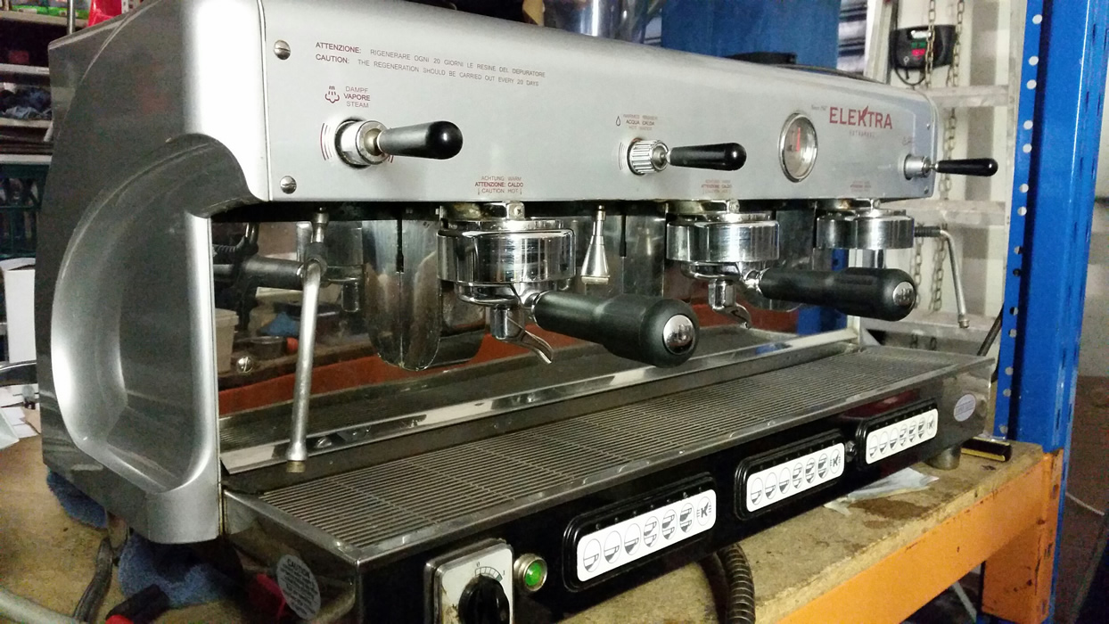 Elektra Coffee Machine 3 Group Gold Cup Espresso Services